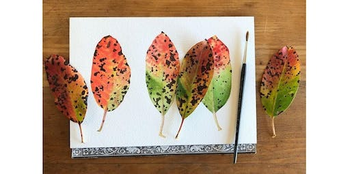 Watercolor Workshop: Painting Leaves and Winter Greens with Sophie Tivona  (2019-12-19 starts at 7:00 PM)
