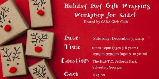 Holiday Gift Wrapping Workshop for Kids! (Girls & Boys)