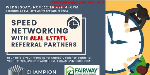 Speed Networking with Real Estate Referral Partners