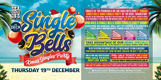 Single Bells Xmas Singles Party at Sea Circus 28s!
