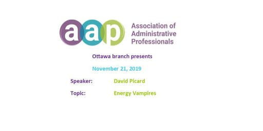 AAP Ottawa Branch Meeting - Energy Vampires by Dave Picard