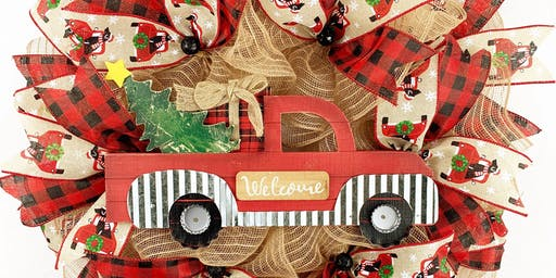 Red Truck Wreath Making Class