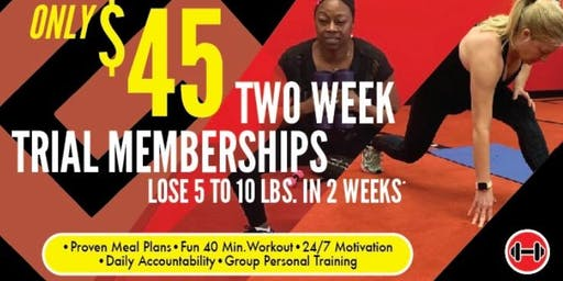 2-week Trial Membership and PM On-Boarding Session at Matteson Fat Loss Camp