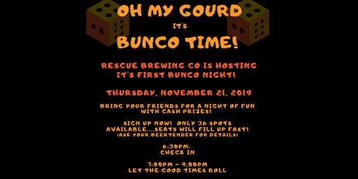Rescue Brewing Co is Hosting its 1st Bunco Night