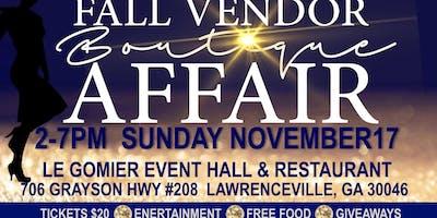 Fall Vendor Boutique Affair
