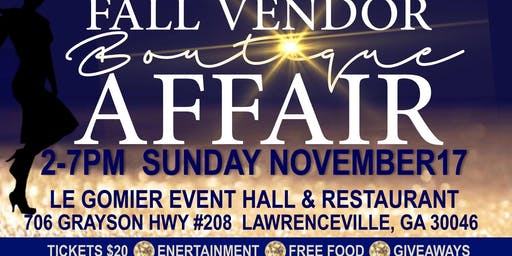Fall Vendor Boutique Affair