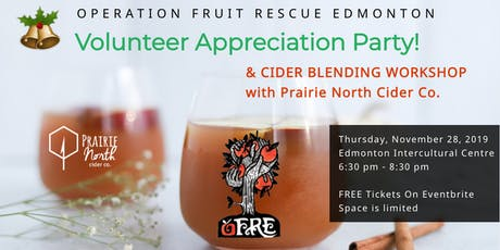 OFRE Annual Volunteer Appreciation Party + Cider Blending Workshop tickets