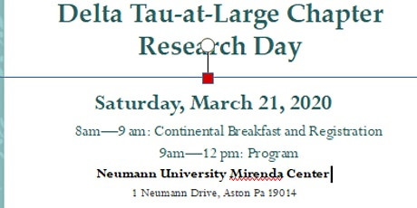 Delta Tau at Large Chapter Nursing Research Day tickets