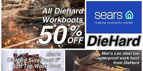 All DieHard  Work Boots 50% OFF tickets