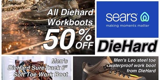 All DieHard  Work Boots 50% OFF