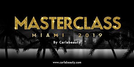 CARLABEAUTY MASTERCLASS MIAMI 2019 ingressos