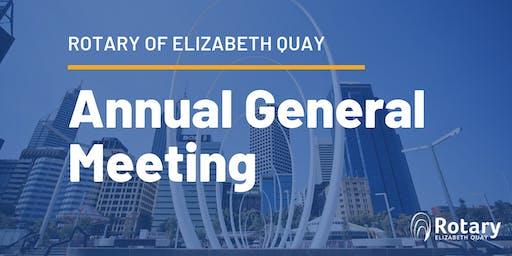 Rotary of Elizabeth Quay: Annual General Meeting 2019