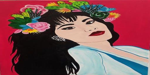 Queen Of Tejano Sip & Paint