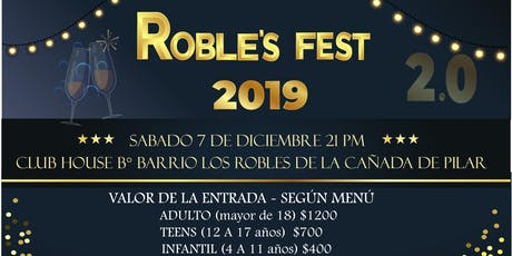 Roble´s Fest 2019 tickets