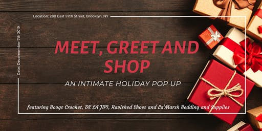 Meet, Greet & Shop: An Intimate Holiday Pop Up