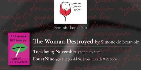 Book Club - The Woman Destroyed with Women Words Wine tickets
