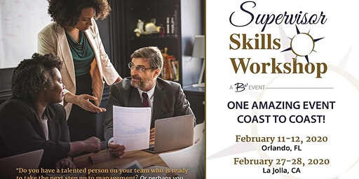 Supervisor Skills Workshop - La Jolla (San Diego Area)