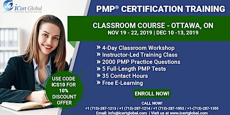 PMP® Certification Training Course Ottawa, ON   iCert Global tickets