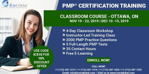 PMP® Certification Training Course Ottawa, ON | iCert Global