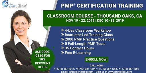 PMP® Certification Training Course Thousand Oaks, CA | iCert Global