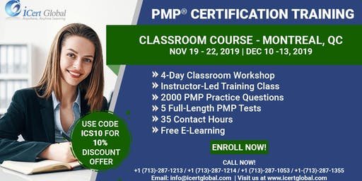 PMP® Certification Training Course Montreal, QC | iCert Global
