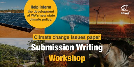 WA Climate Issues Paper: Submission Writing Workshop tickets