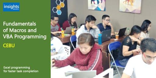 CEBU Fundamentals of Macros and VBA Programming