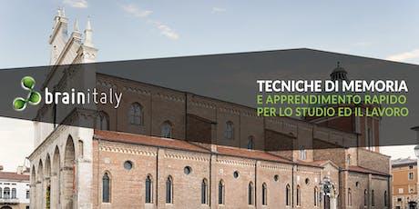 Vicenza: Corso gratuito di memoria biglietti