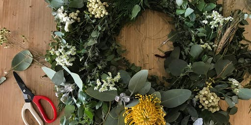 Christmas Wreath Making Workshop with Anna Loughnan Flowers