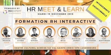 HR Meet & Learn - Formation Interactive - CEO & DRH billets