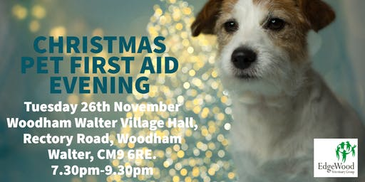 Edgewood Vets Christmas Pet first aid evening