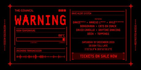 The Council Ice Factory Rave tickets