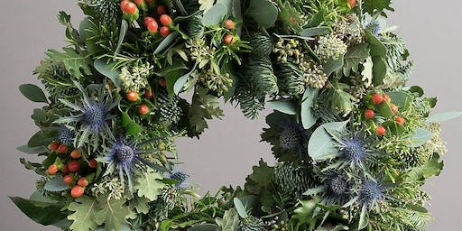 Festive wreath making at Sample Christmas