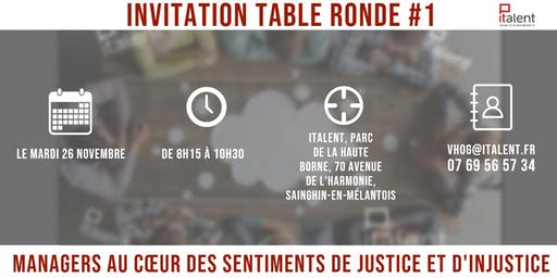 Table ronde #1 -  La Justice Organisationnelle