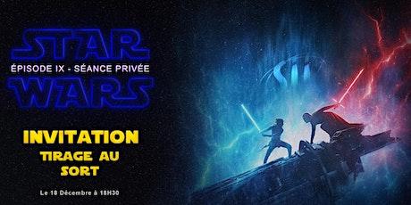 Projection privée Sii Tours - StarWars épisode IX billets