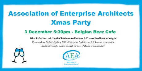 Association of Enterprise Architects Christmas Drinks 2019 tickets