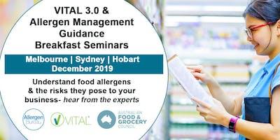 VITAL 3.0 and Allergen Management Guidance Breakfast Seminar (Hobart)