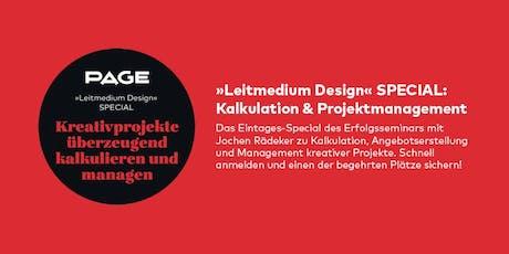 PAGE Seminar »Kalkulation & Projektmanagement« mit Jochen Rädeker Tickets