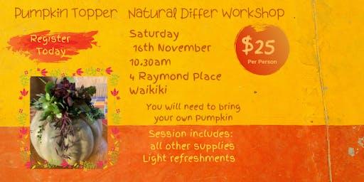 PumpKin Topper Natural Diffuser Workshop