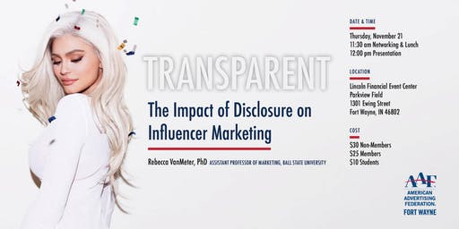 TRANSPARENT: The Impact of Disclosure on Influencer Marketing