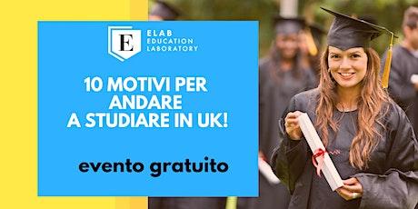 10 motivi per  andare  a studiare IN UK! biglietti