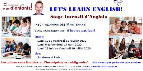 Stage Intensif d'Anglais pour Enfant (5 à 18 ans) – Vacances d'Hiver 2020 tickets
