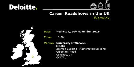 Deloitte Cyprus - UK Career Roadshows - Warwick
