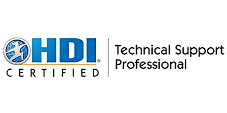 HDI Technical Support Professional 2 Days Training in San Jose, CA tickets