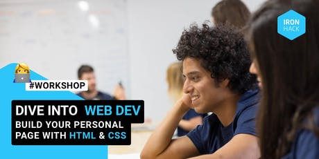 Dive into Web Development: code your personal page for beginners tickets
