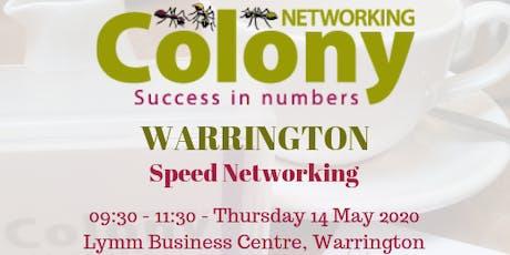 Colony Speed Networking (Warrington) - 14 May 2020 tickets