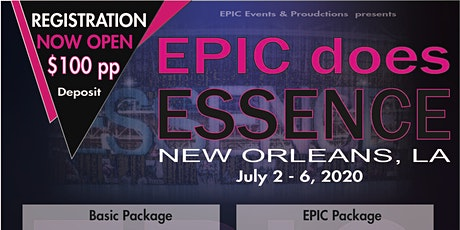 EPIC does Essence 2020 tickets