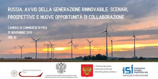 Russia, avvio della generazione rinnovabile