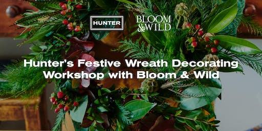 Hunter's Festive Wreath Decorating Workshop  with Bloom & Wild