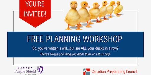 Free Funeral Pre Planning Workshop